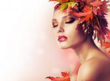 Autumn Beauty Fashion Portrait