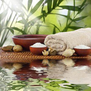 Spa massage aromatherapy setting