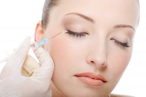Botox injection for the beautiful young woman